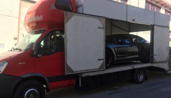 Перевозка Porsche Stingray на выставку в Марбелью (Испания)