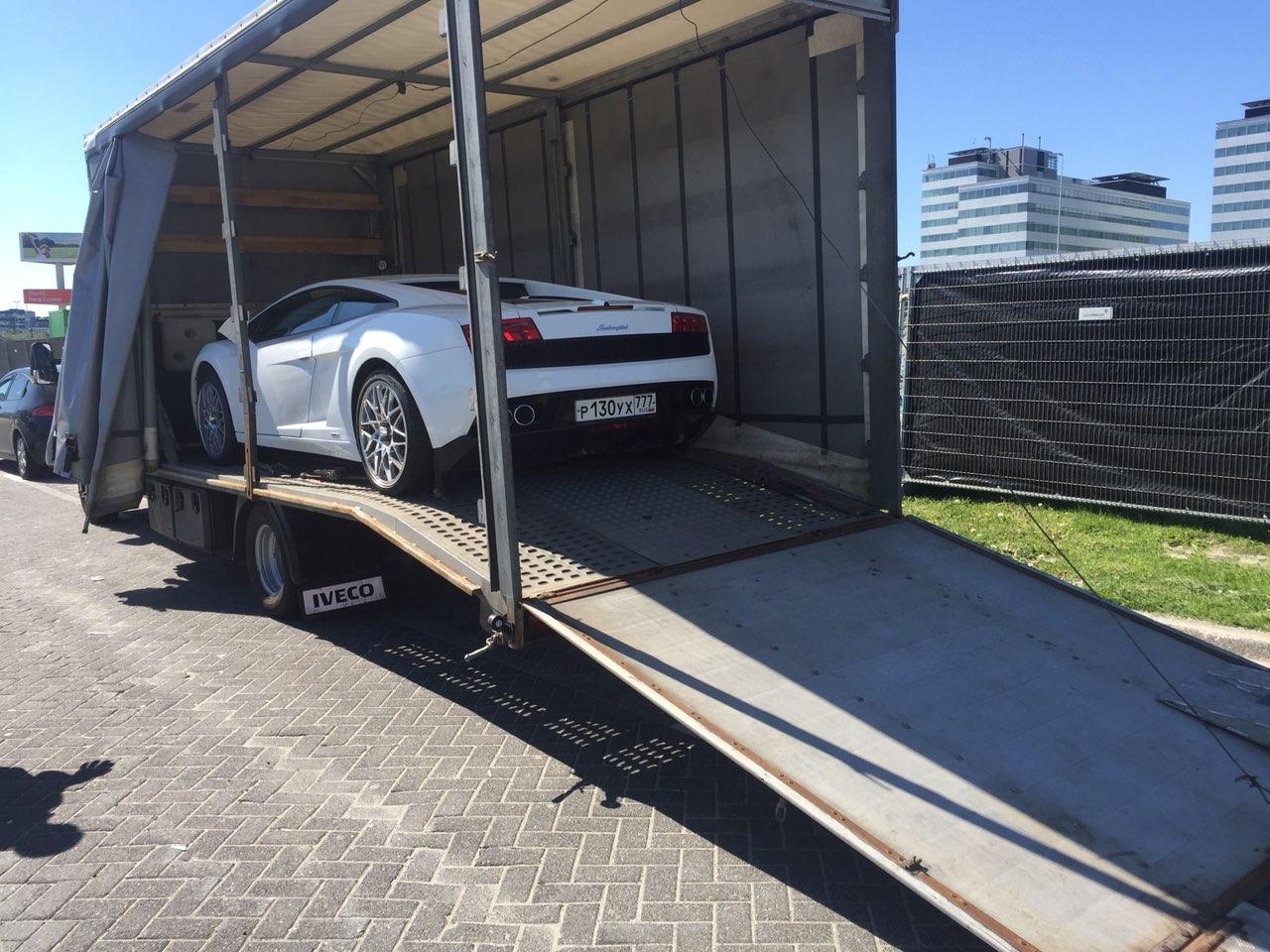 Перевозка Lamborghini Gallardo Москва - Амстердам
